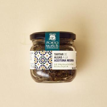 Tartar de algas a la aceituna negra de Portomuíños