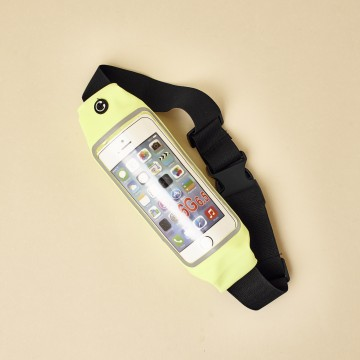 Brazalete gris de deporte para el teléfono, universal