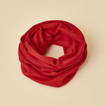 Buff tubo de invierno rojo