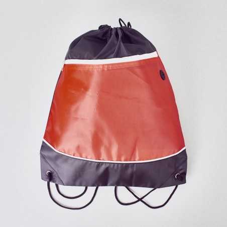 Bolsa con cordón con salida para auriculares