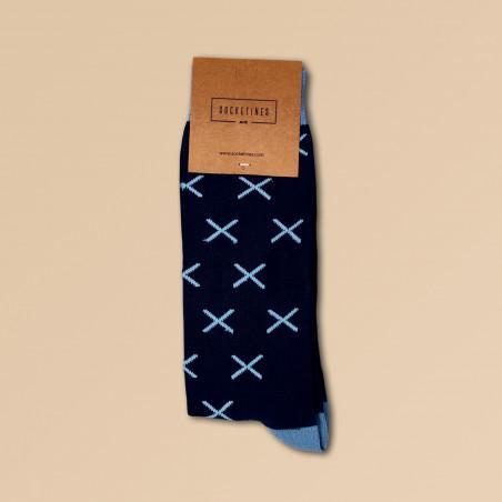 Calcetines Socketines azul marino con aspas