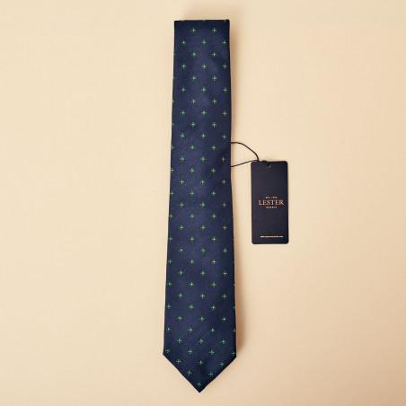 Corbata LESTER pétalos azul