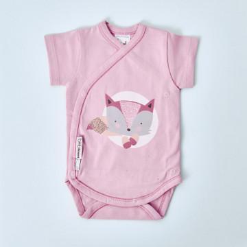 Body cruzado para bebé niña manga corta de BimbiDreams, modelo Fox.