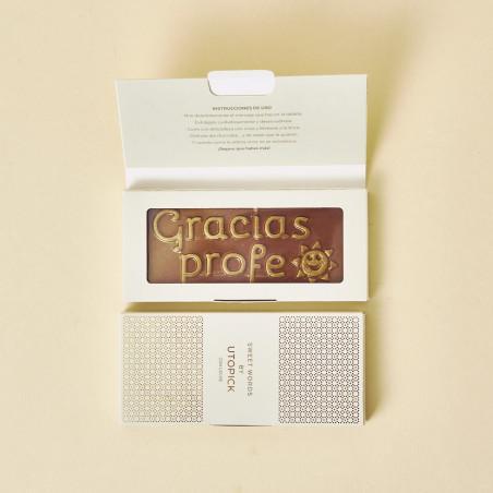 """Chocolate """"Gracias Profe"""" con packaging de lujo"""