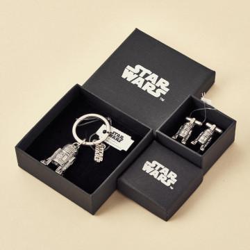 Regalo para profesores, gemelos y llavero oficiales Star Wars, modelo R2D2