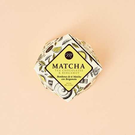 Matcha & Bergamot tea chocolates Mi&Cu