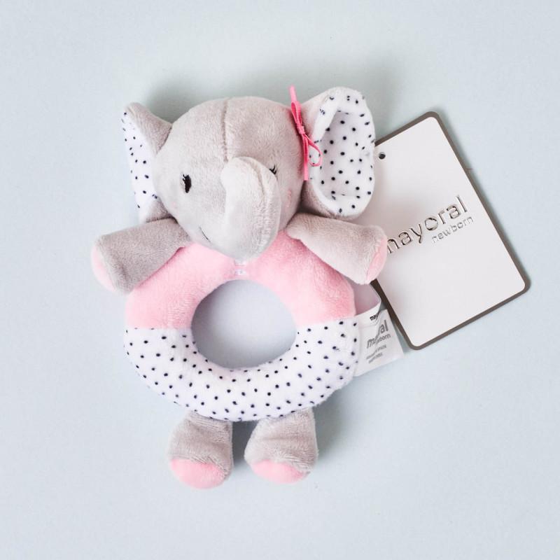 Sonajero elefante rosa Mayoral