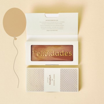 Chocolate con mensaje felicidades para cumpleaños