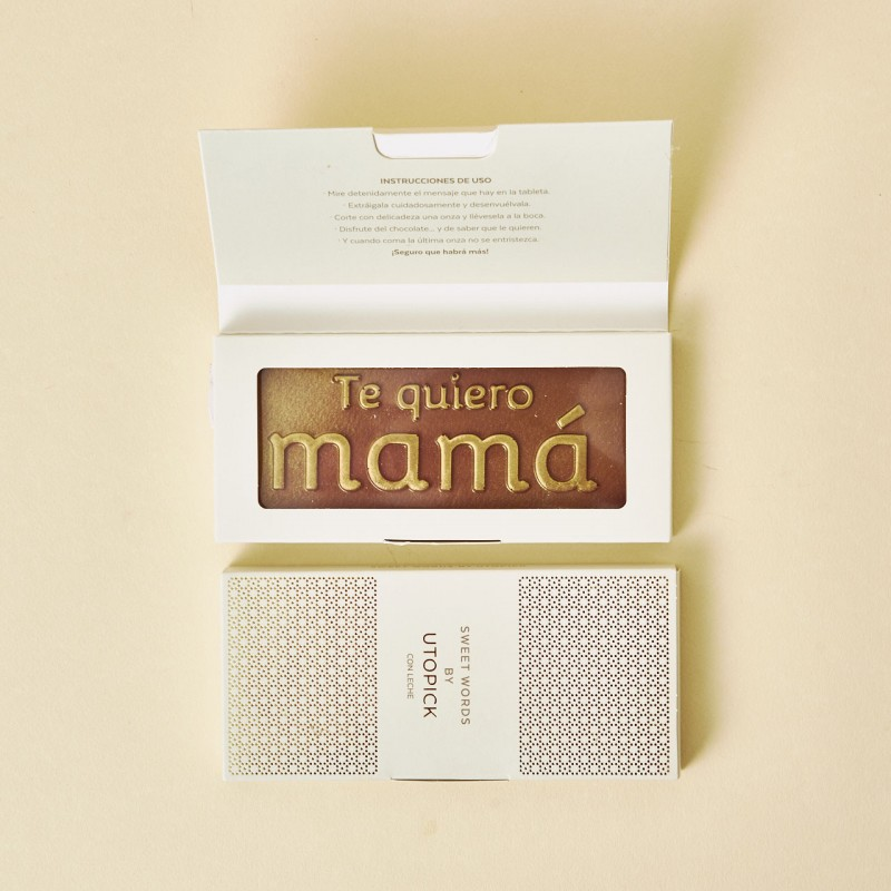 Detalle original para tu madre, chocolate Utopick con mensaje
