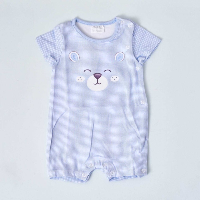 Pijama de manga corta azul celeste Mayoral, modelo Osito