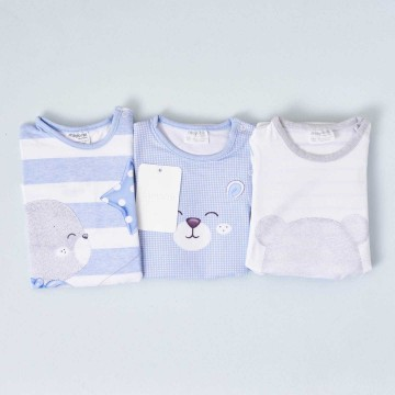 3 pijamas de manga corta Mayoral, algodón