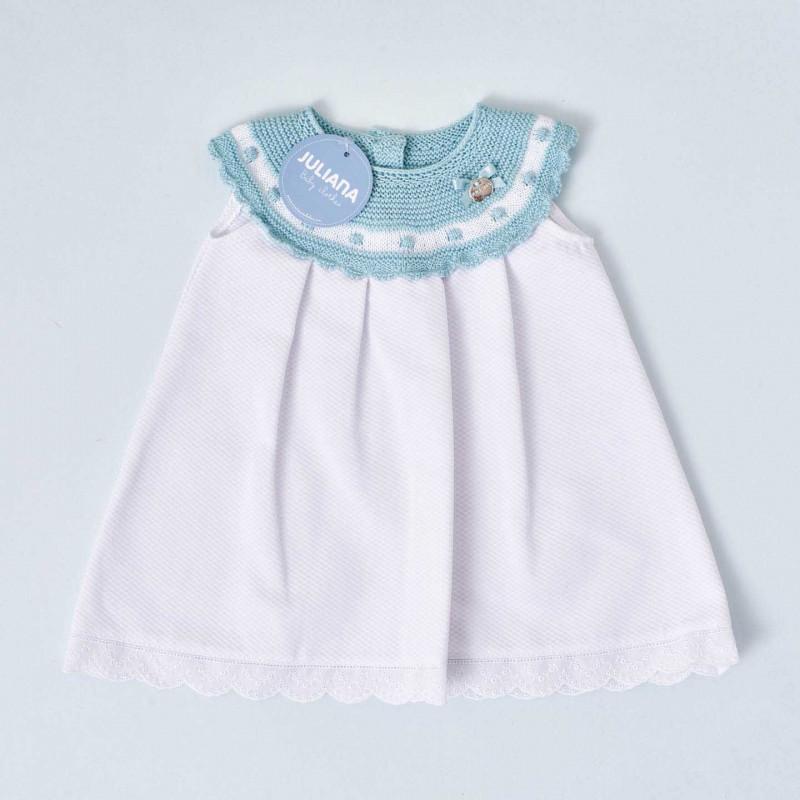 Vestido canesú bebé niña Juliana