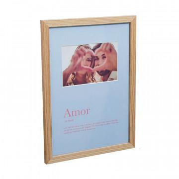 Marco de fotos de madera con paspartú Romántico
