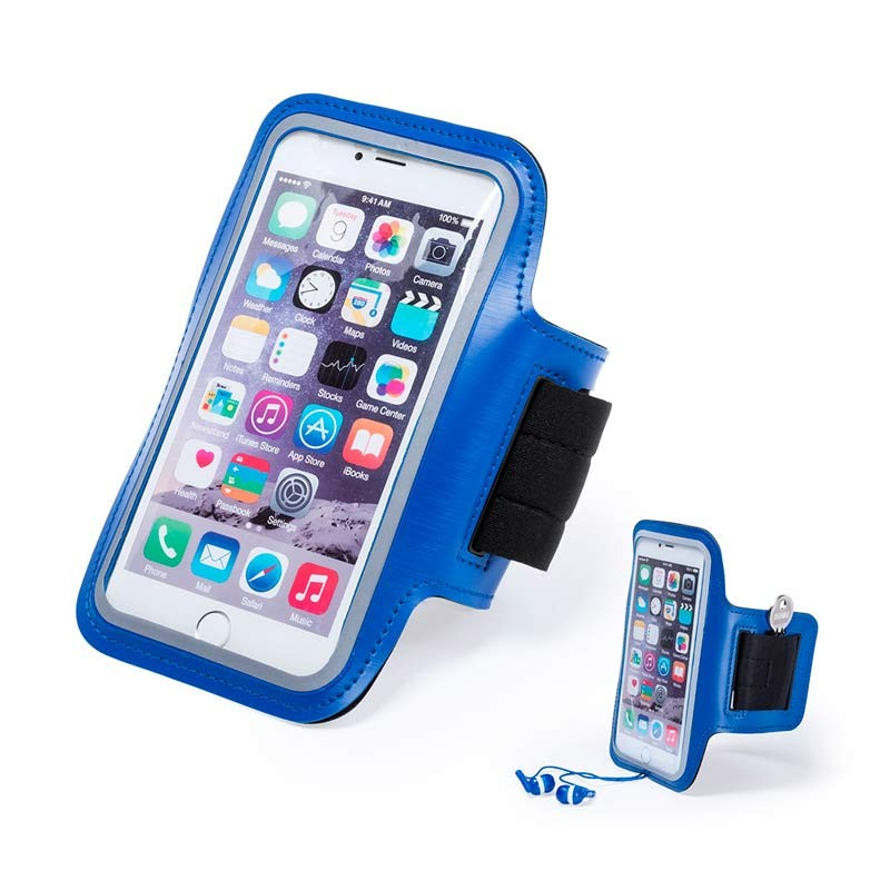 Brazalete para el móvil azul