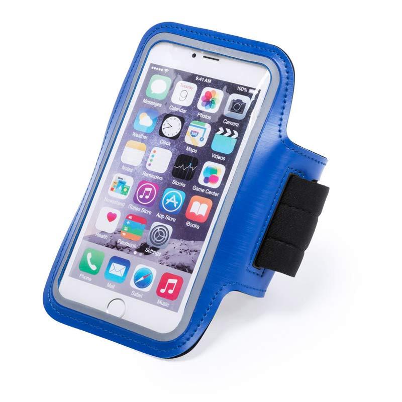Brazalete para el móvil azul, exterior