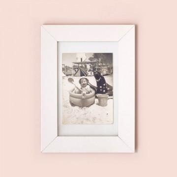 marco de fotos blanco madera 10x15 cm