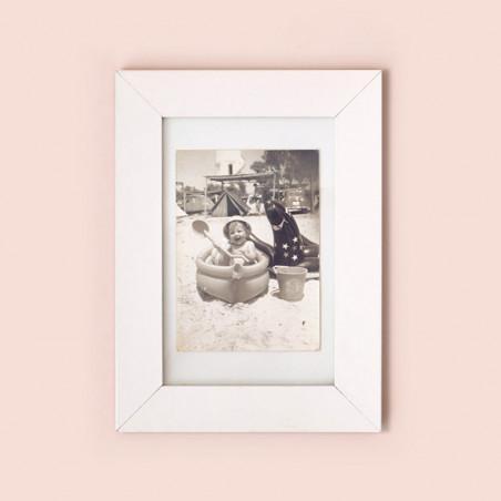 1 Marco de fotos blanco 10x15 cm
