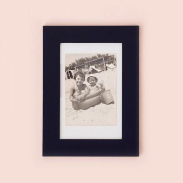marco de fotos negro madera 10x15 cm