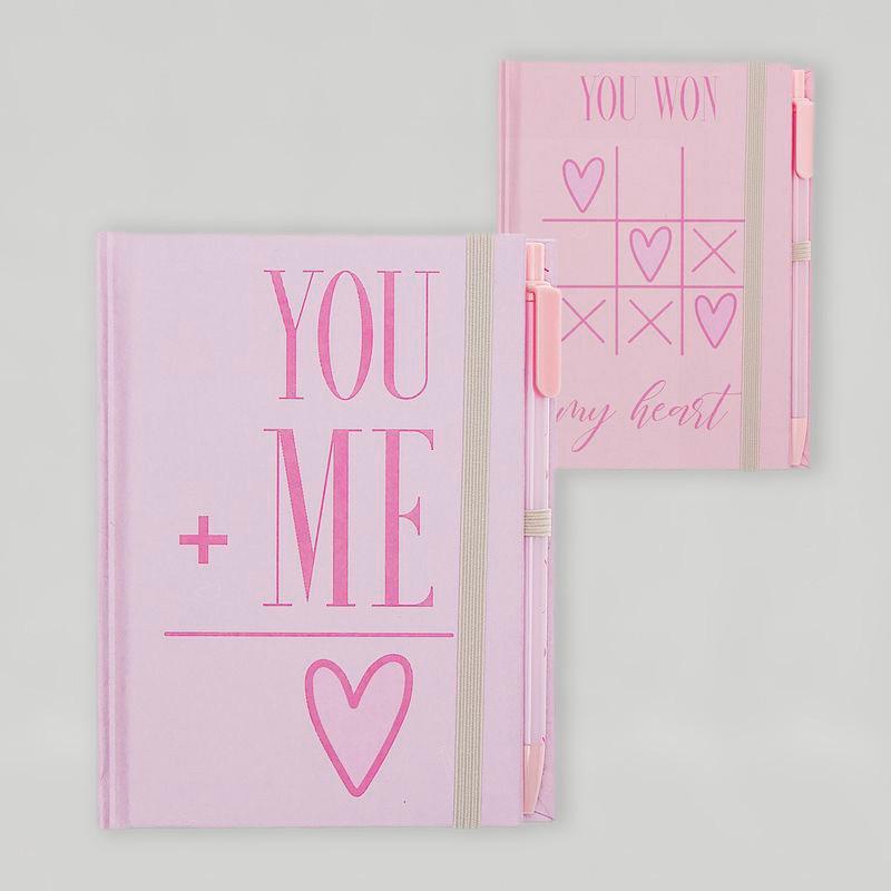 Libreta con mensaje romántico