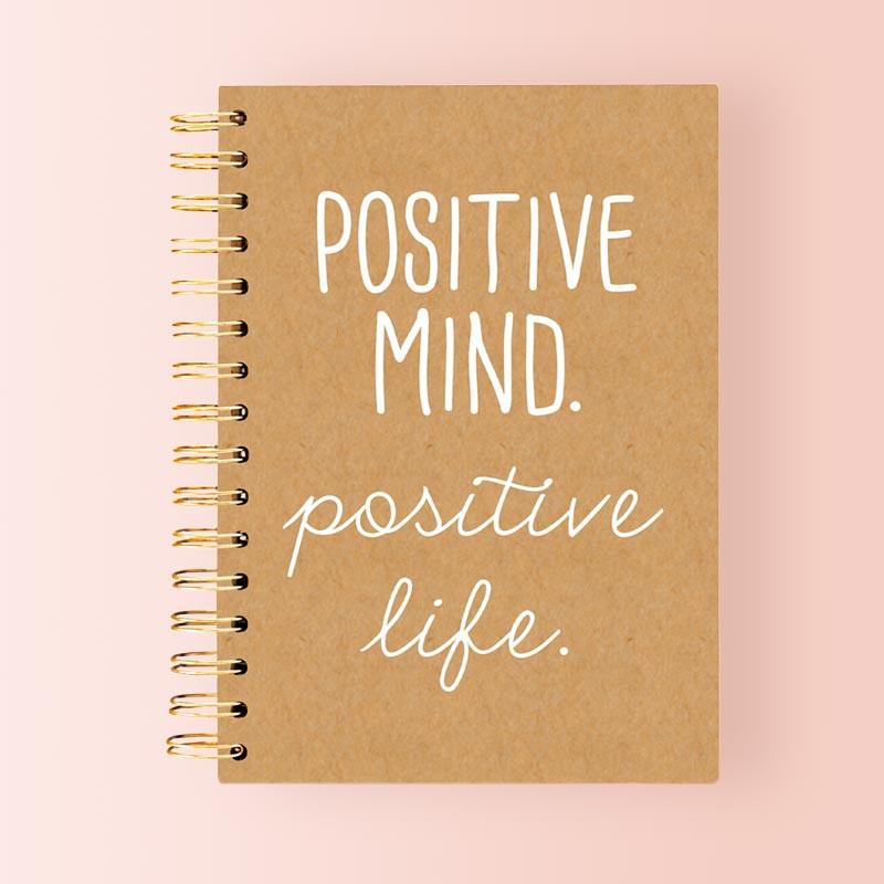 Libreta Bonita de Anillas con Mensaje Positivo
