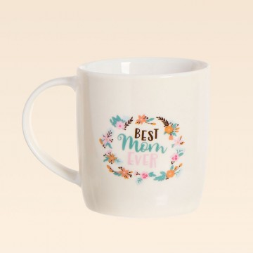 Taza de porcelana con mensaje Best Mom Ever