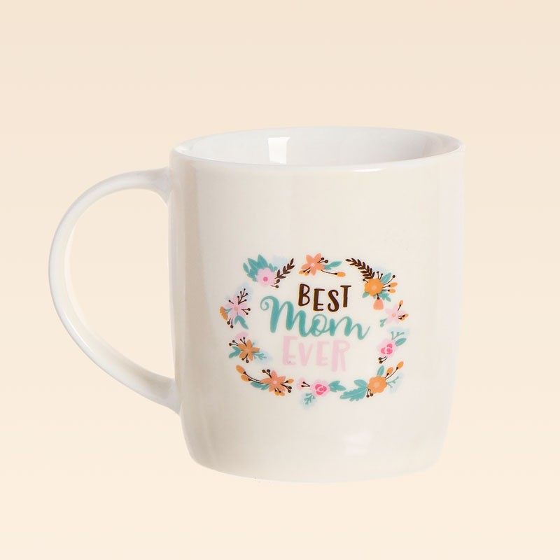 Taza de porcelana con mensaje Best Mom Ever