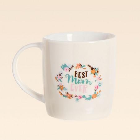 Taza con mensaje Best Mom Ever