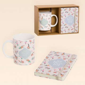 Pack Regalo para Mamá con Taza y Libreta Best Mom
