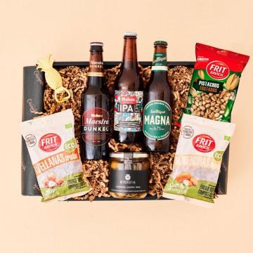Regalo con Cerveza para Mujer, cesta regalo