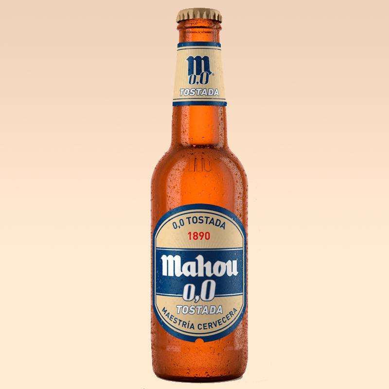 Cerveza Mahou tostada sin alcohol 0,0