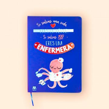 Cuaderno con Mensaje Enfermera