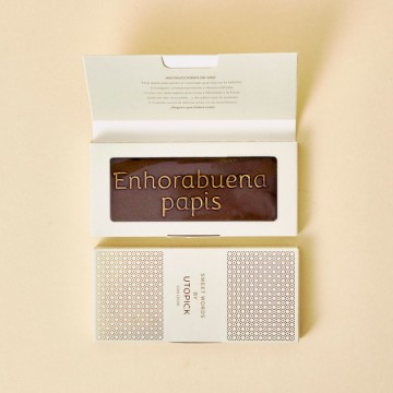 Tableta Chocolate Utopick Enhorabuena papis