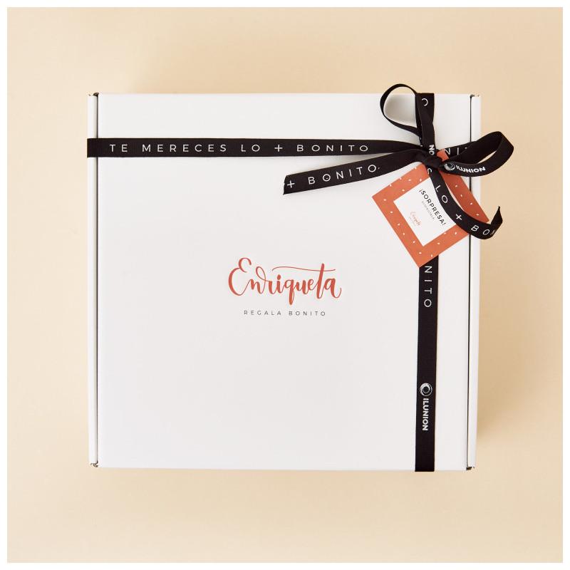 Regalo de cumpleaños en caja regalo de Enriqueta Regala Bonito