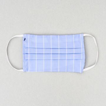 Mascarilla higiénica reutilizable tela azul