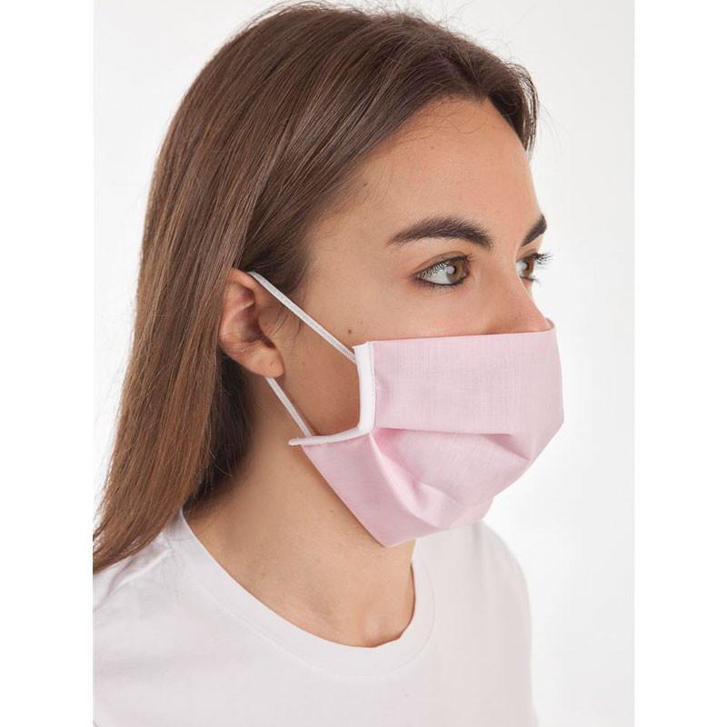 Mascarilla higiénica reutilizable Rosa 3 filtros CLVital