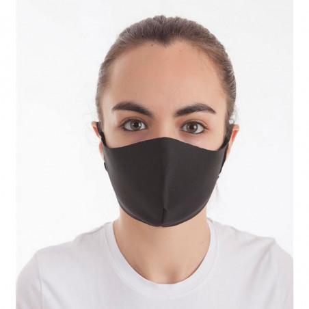 Mascarilla higiénica reutilizable Negra de Neopreno CL Vital