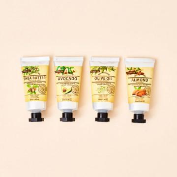 Cremas de manos Natural Oil, aguacate, almendras, manteca de karité y aceite de oliva