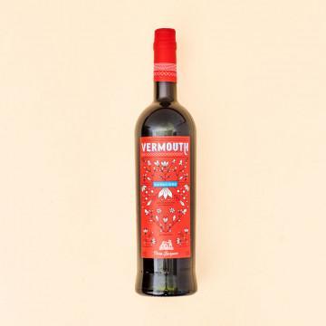Vermú rojo Barquero, botella 75 cl.