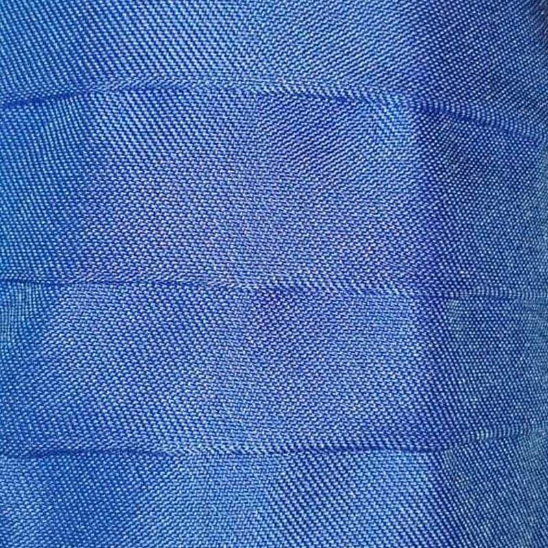 Detalle mascarilla higiénica reutilizable azul con tejido Elsanek 125