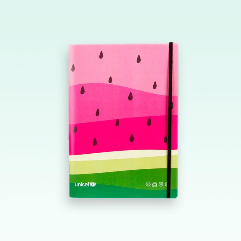 Cuaderno tapa blanda UNICEF Sandías liso