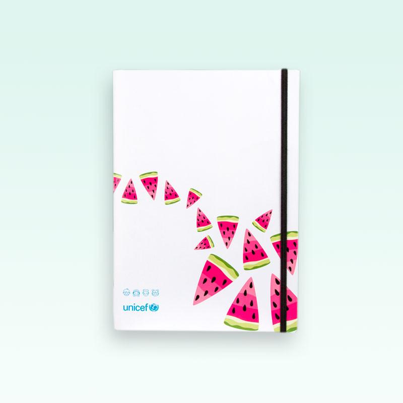 Cuaderno tapa blanda UNICEF Sandías cuadriculado