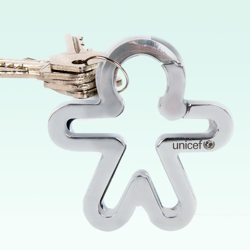Llavero solidario UNICEF aluminio anodizado