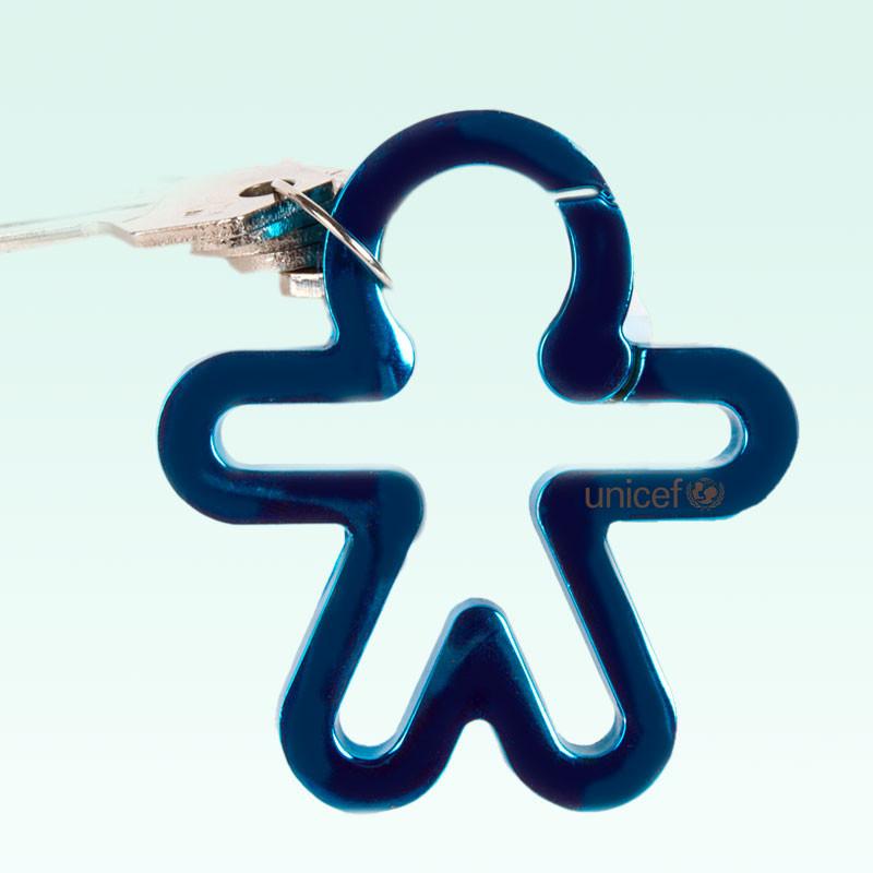 Llavero solidario UNICEF azul