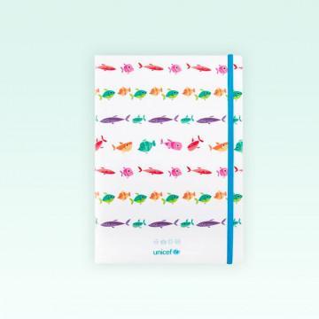 Cuaderno UNICEF tapa blanda modelo Sandías liso