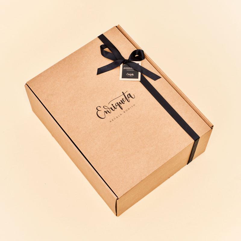 Caja regalo con material certificado FSC, medioambientalmente responsable