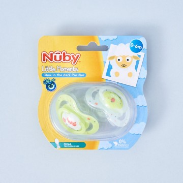 Pack Chupetes verdes Nuby Modelo Apple