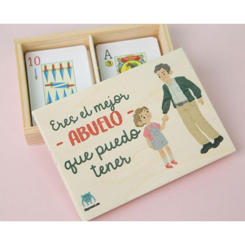 """Caja para guardar las cartas de madera con mensaje """"Eres el mejor abuelo"""""""