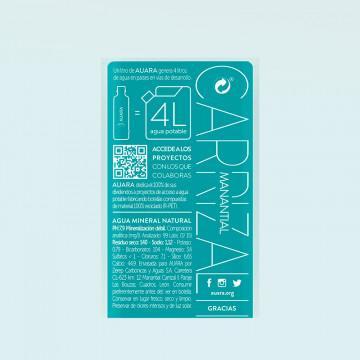 Agua mineral AUARA 500 ml etiqueta