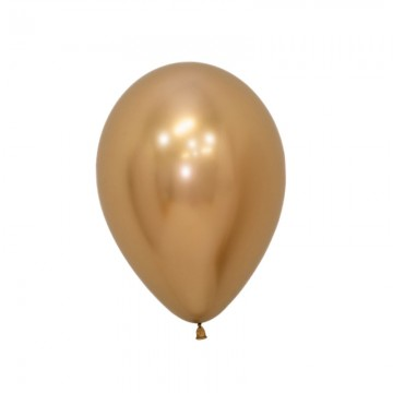 Globo de fiesta, color oro. Pack 12.
