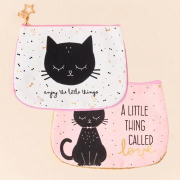 Neceser gatitos mensaje positivo